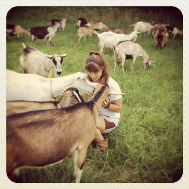 Christine loves goats