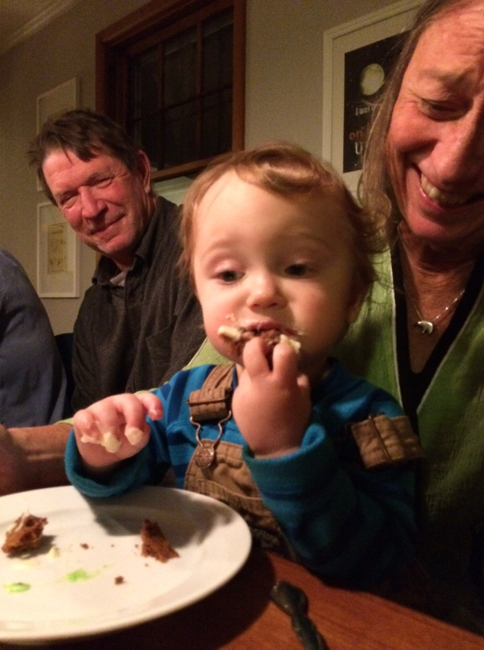 Dirscoll's first cake - down the hatch