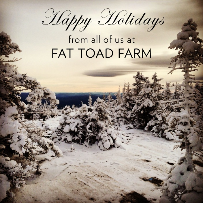 Happy Holidays from Fat Toad Farm 2014